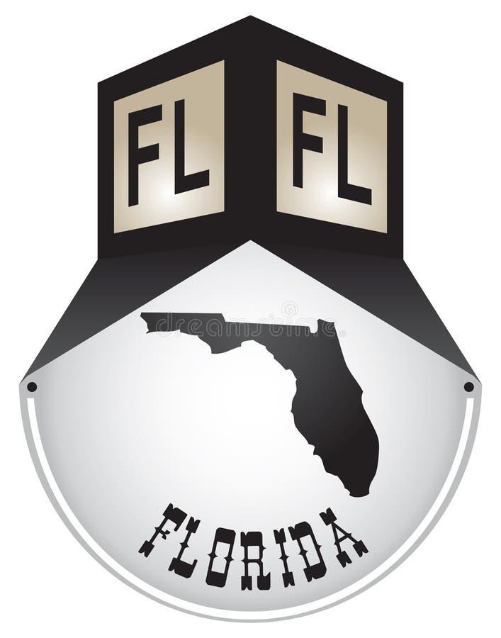 Plaque de rue de vintage pour la Floride illustration libre de droits