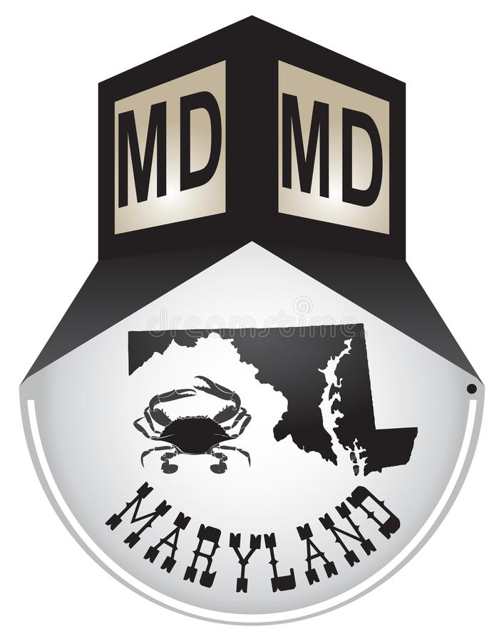 Plaque de rue de vintage pour le Maryland illustration stock