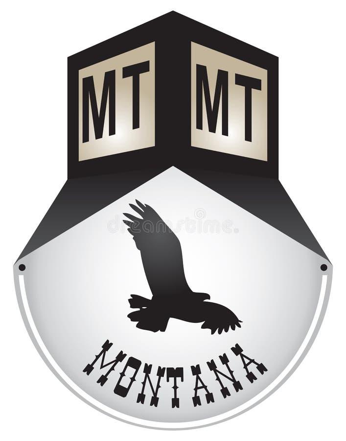 Plaque de rue de vintage pour le Montana illustration libre de droits