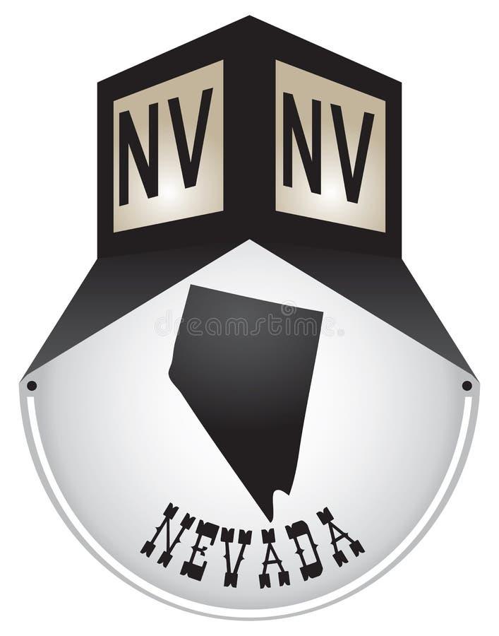 Plaque de rue de vintage pour le Nevada illustration libre de droits