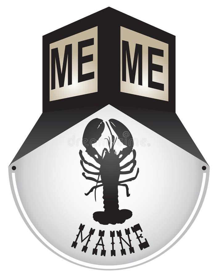 Plaque de rue de vintage pour Maine illustration de vecteur