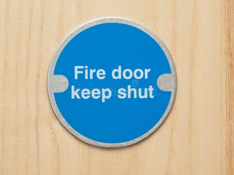Plaque de sécurité incendie photographie stock