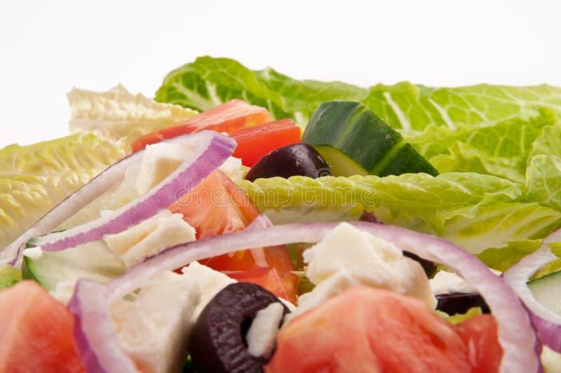 Plaque de salade pour le style de vie sain images libres de droits
