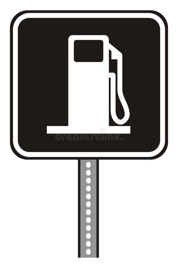 Plaque de station service illustration de vecteur