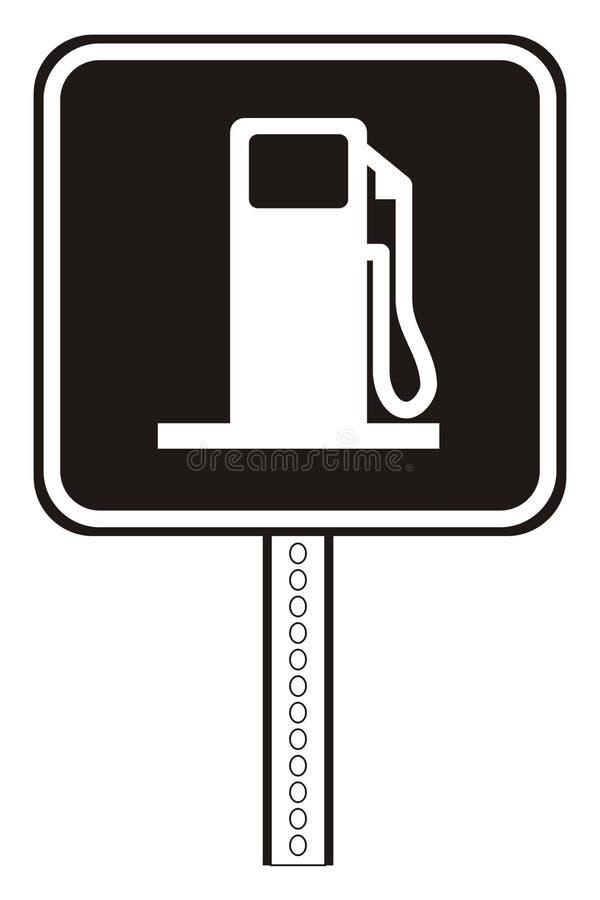 Plaque de station service illustration libre de droits