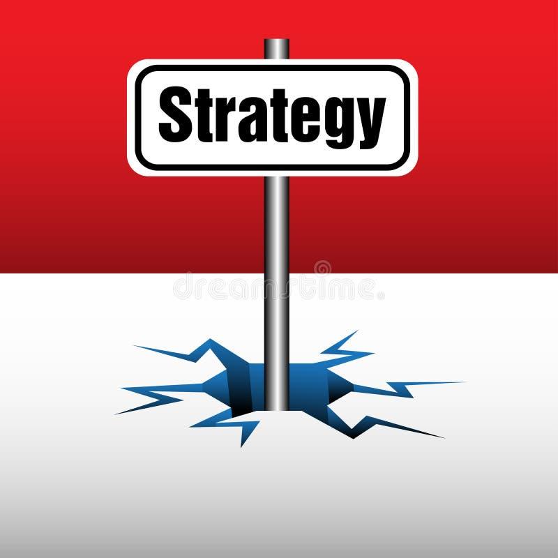 Plaque de stratégie illustration libre de droits