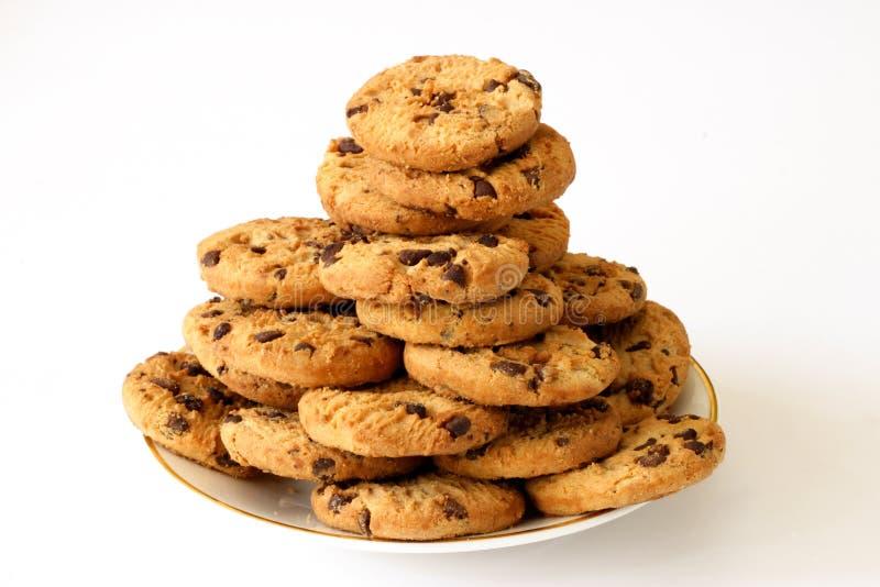 Plaque des biscuits photographie stock libre de droits