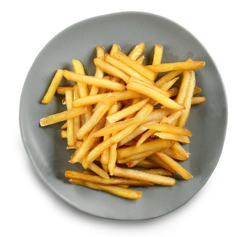 Plaque des pommes frites photo stock
