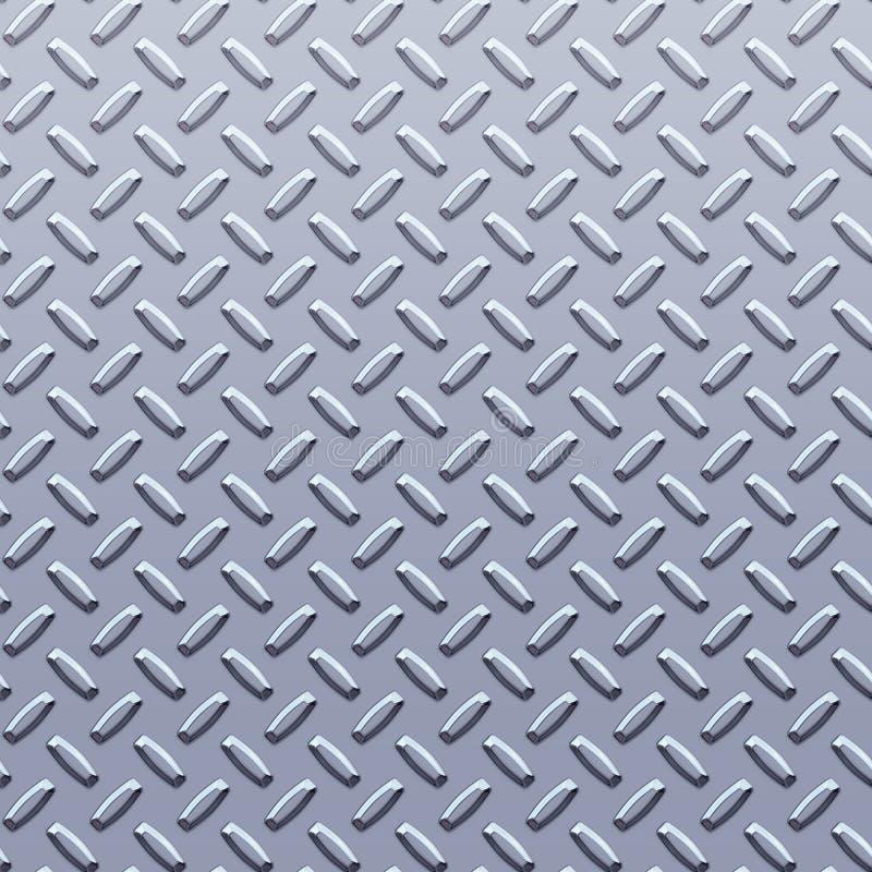 Plaque en acier de diamant illustration de vecteur