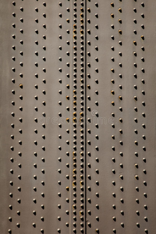 Plaque en acier et rivets images stock
