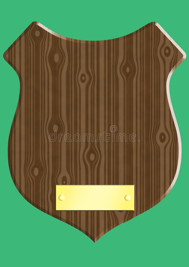 plaque en bois illustration stock illustration du laiton. Black Bedroom Furniture Sets. Home Design Ideas