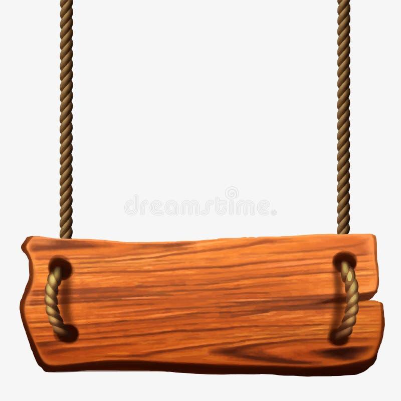 Plaque en bois panneau illustration libre de droits