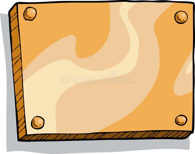 Plaque en bronze illustration de vecteur