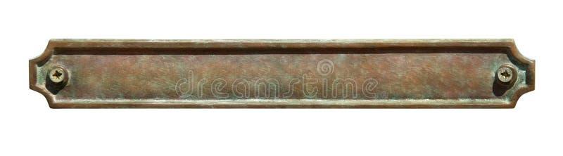 Plaque en métal photo libre de droits