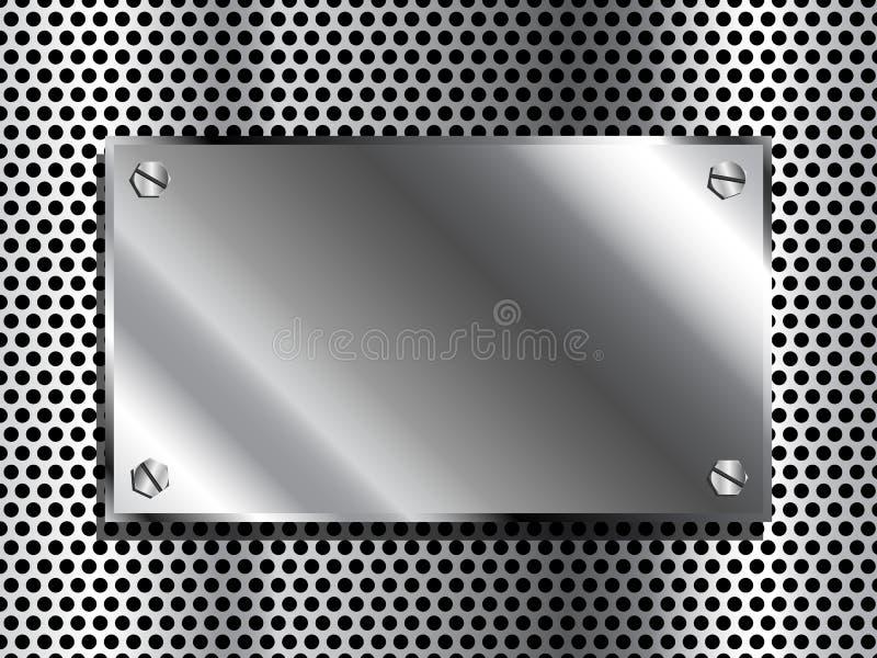 Plaque en métal illustration libre de droits