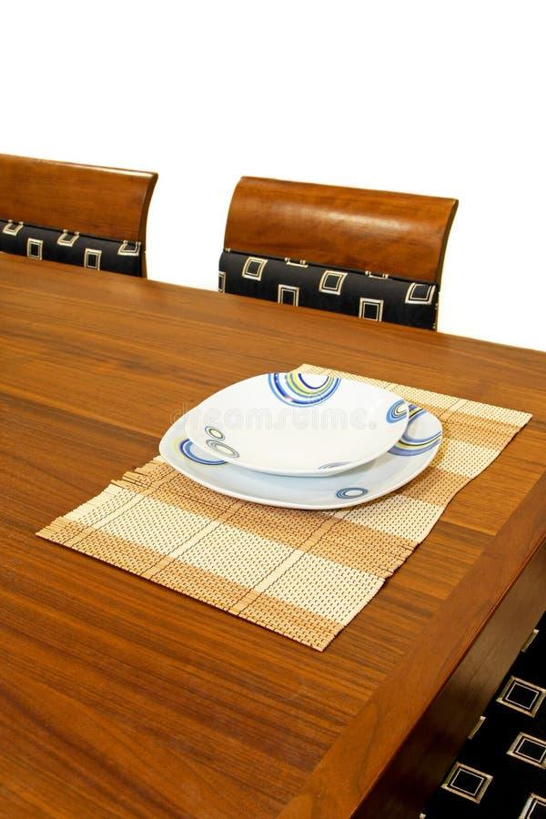 Plaque et table photos stock
