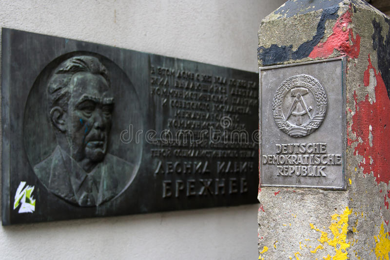 Download Plaque Leonid Brezhnev And Frontier Post Of DDR Editorial Photography - Image: 23090737