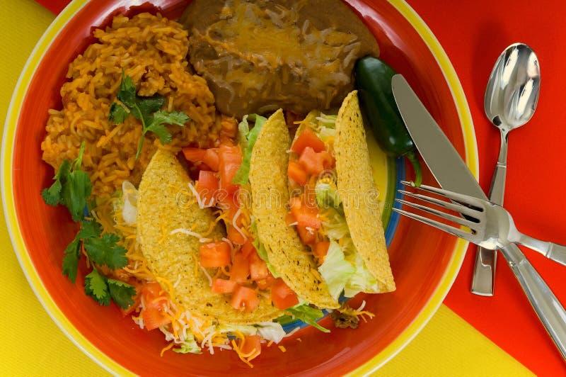 Plaque mexicaine de nourriture photographie stock
