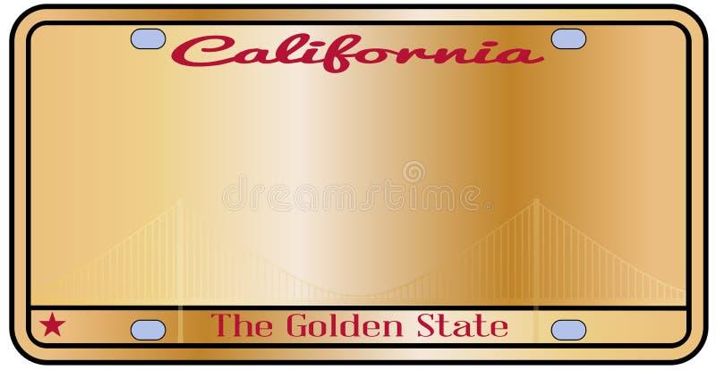 Plaque minéralogique de la Californie illustration libre de droits