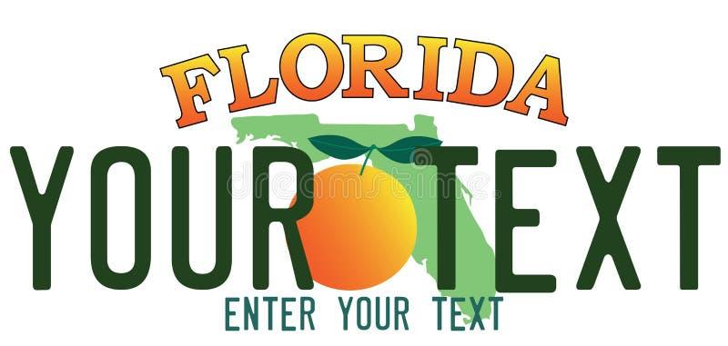 Plaque minéralogique de la Floride illustration de vecteur