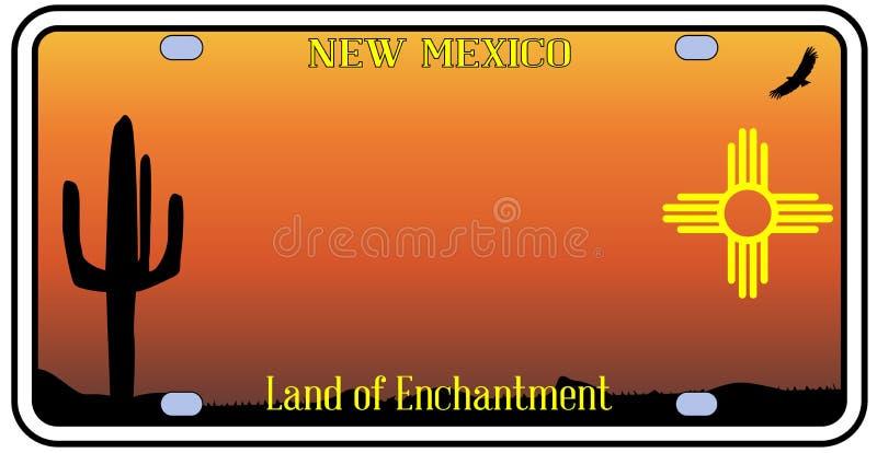 Plaque minéralogique du Nouveau Mexique illustration libre de droits