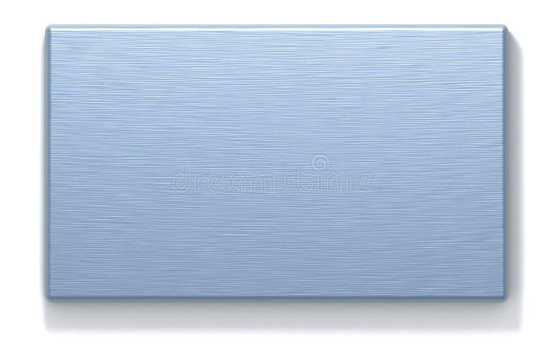 Plaque rectangulaire en métal azuré illustration libre de droits