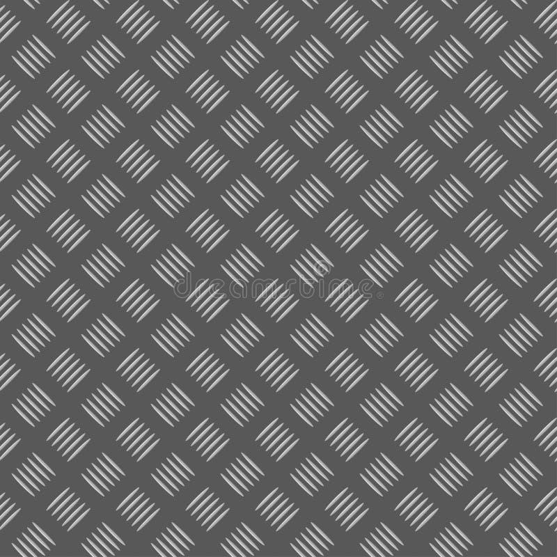 Plaque sans joint de metall illustration de vecteur