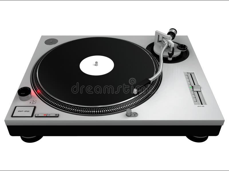 Plaque tournante 3 du DJ illustration libre de droits