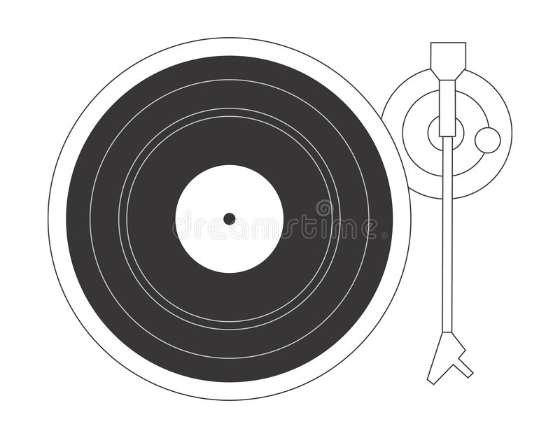 Download Plaque tournante du DJ illustration de vecteur. Illustration du enregistrement - 54193