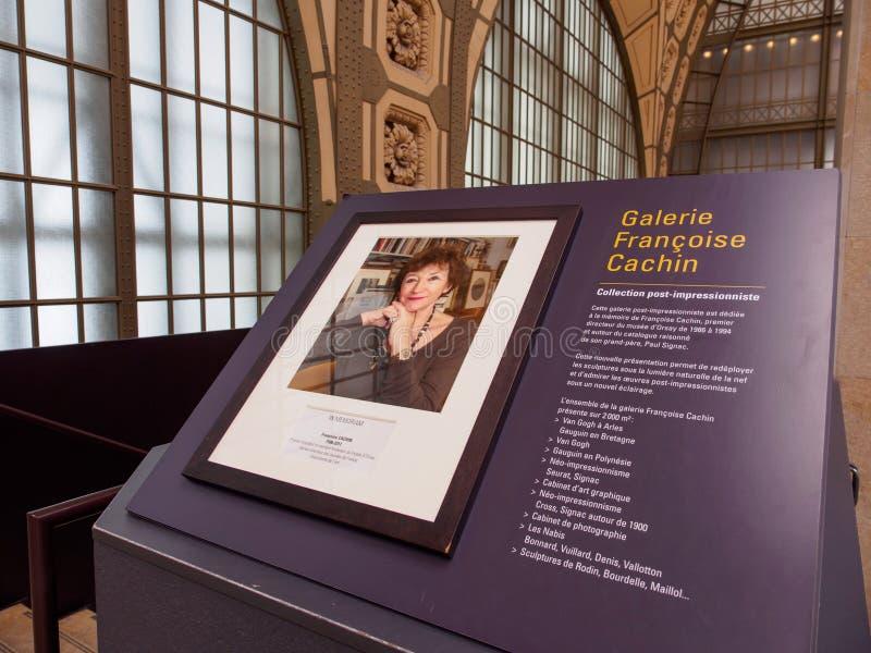 Plaque van Francoise Cachin in Musee D ?Orsay, Parijs, Frankrijk stock foto's