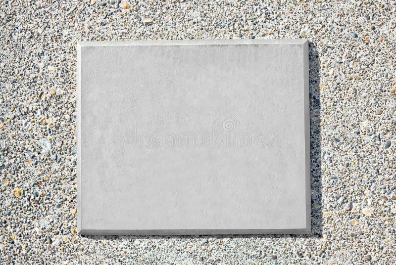 Plaque vide en métal photo stock