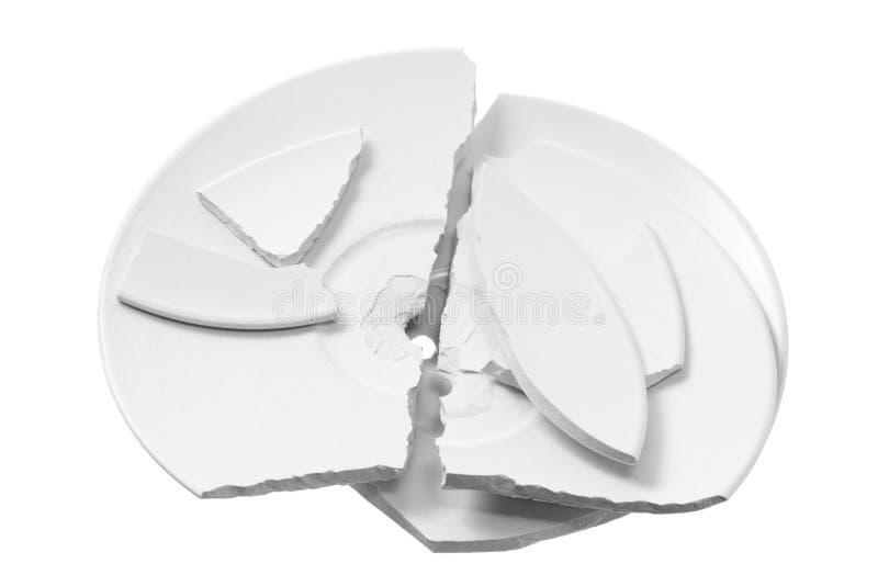 Plaques cassées images stock