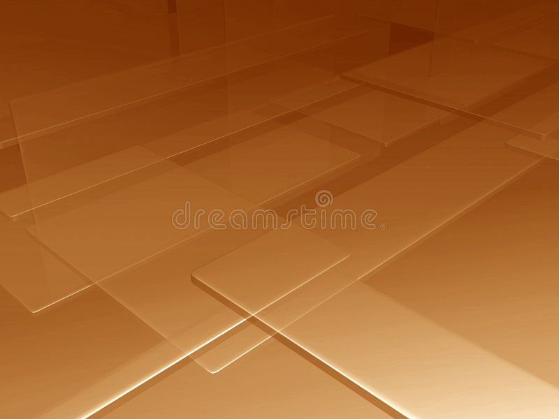 Plaques d'or illustration stock