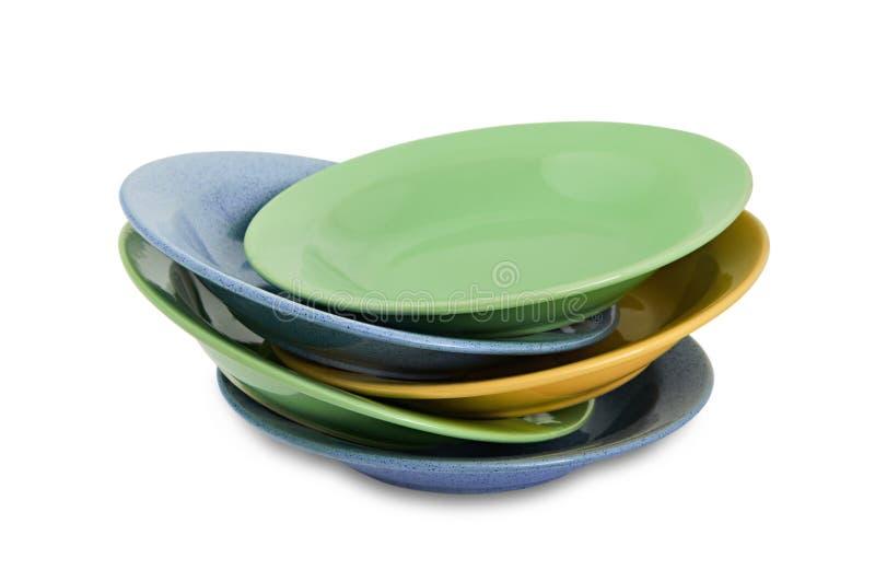 Plaques de dîner colorées photos libres de droits