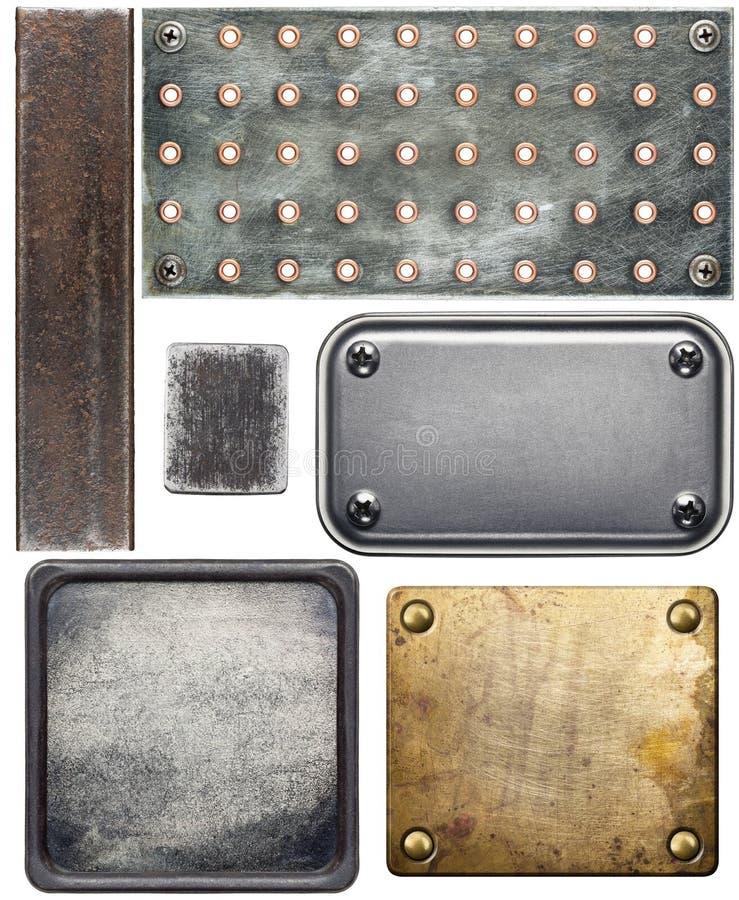 Plaques de métal images stock