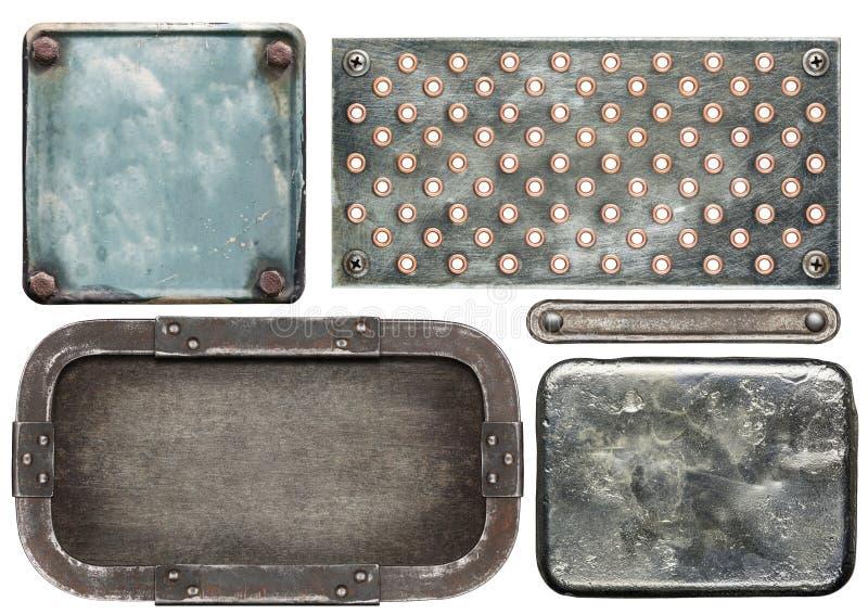 Plaques de métal photo libre de droits