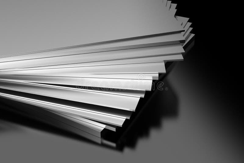 Plaques de métal industrielles illustration stock