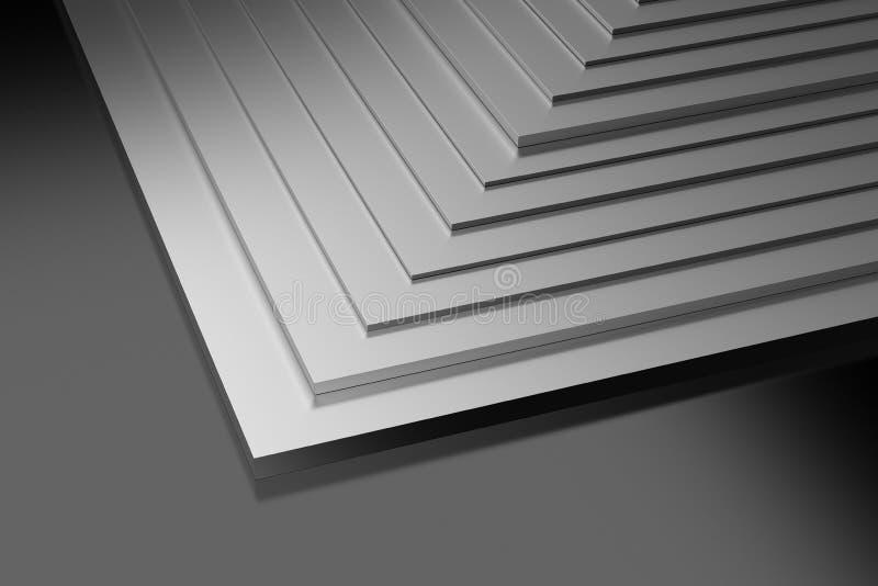 Plaques de métal industrielles illustration de vecteur