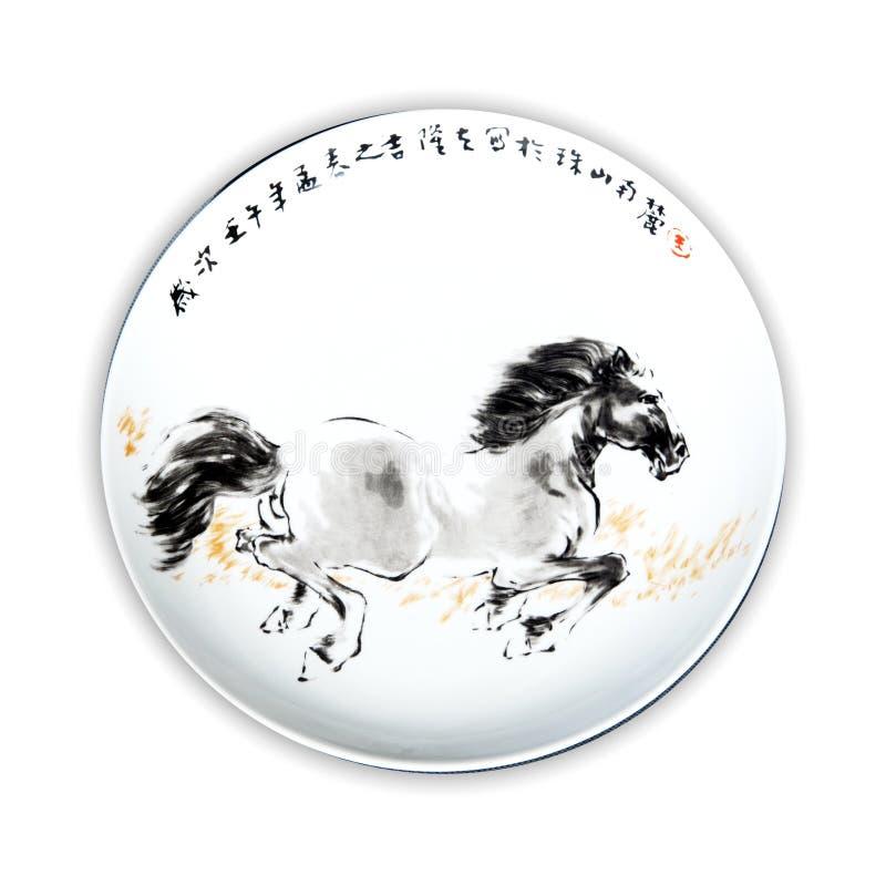 Plaques de porcelaine photo stock