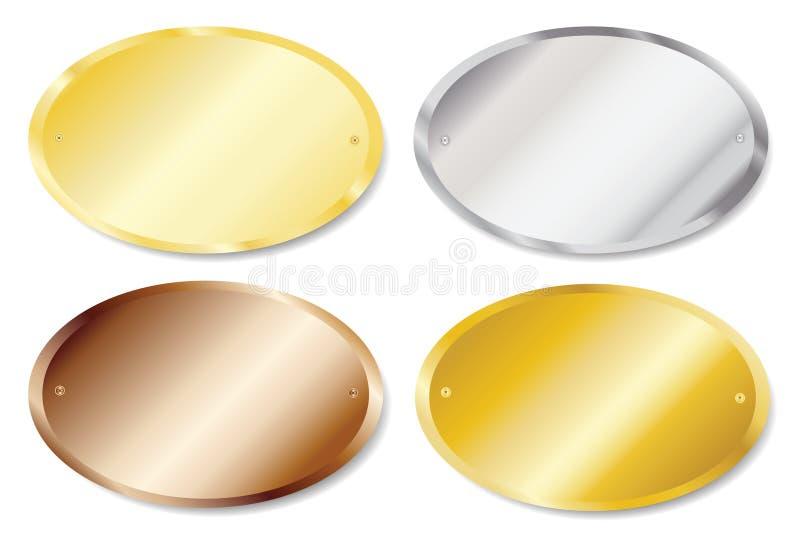 Plaques de trappe ovales illustration libre de droits