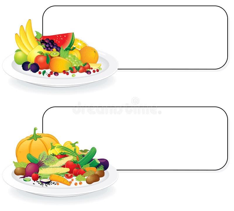 Plaques de Vegan illustration de vecteur
