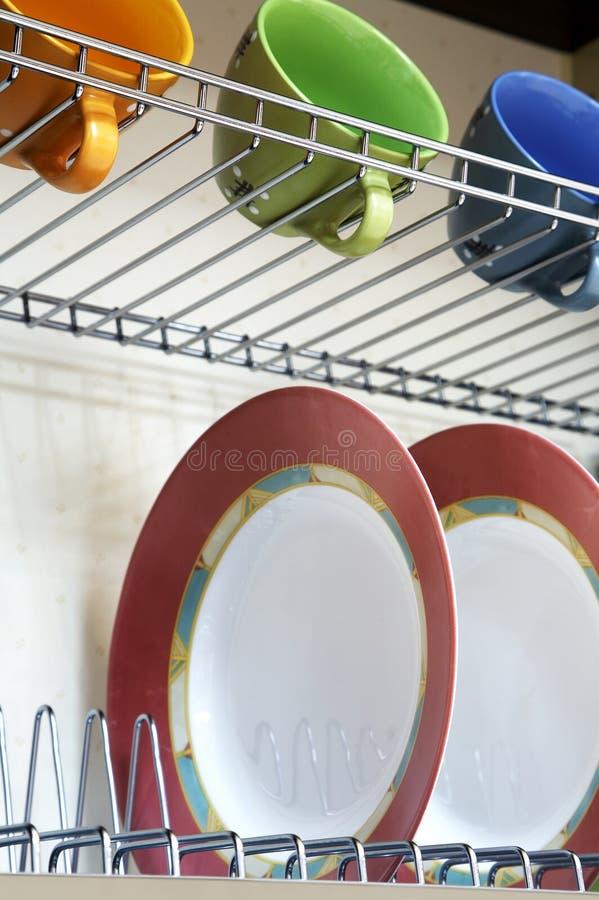Plaques et cuvettes images stock