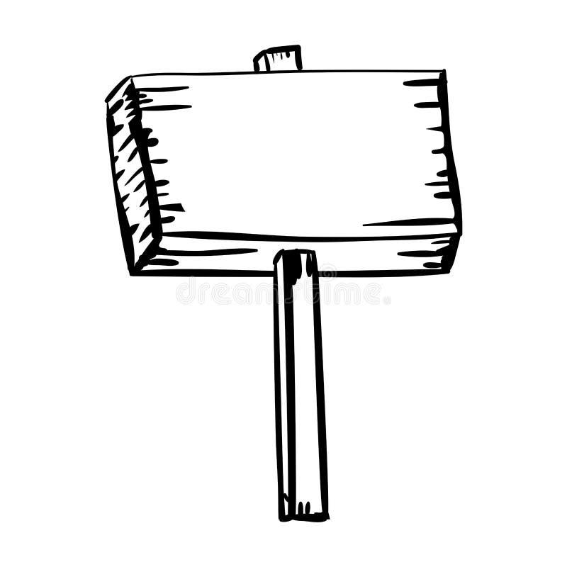 Plaquette en bois de silhouette avec l'enjeu illustration de vecteur