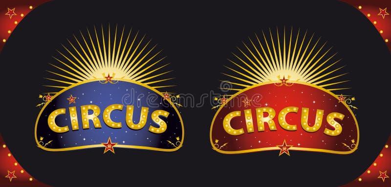Plaquettes de cirque illustration stock