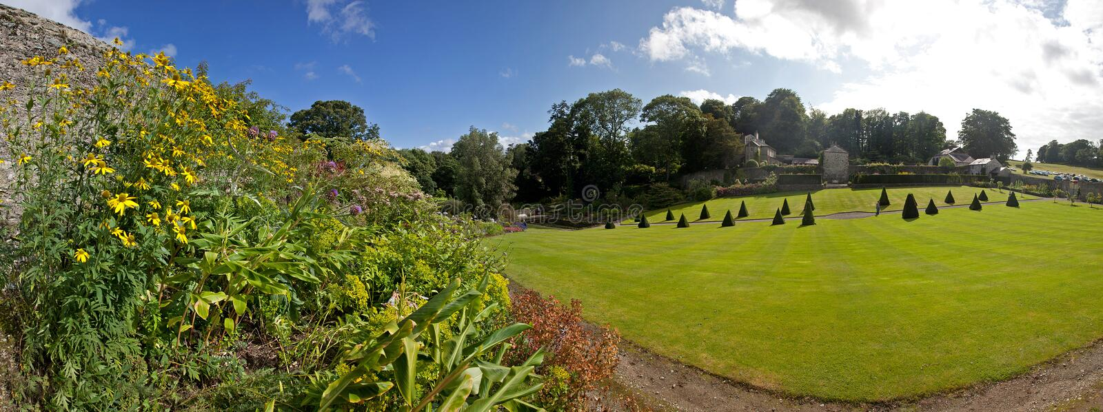 Plas Cadnant Gardens. New discovered hidden gardens in Menai Bridge Isle of Anglesey stock photos