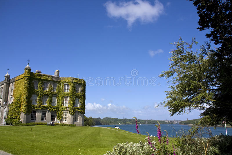 Plas Newydd. A National trust Property on the banks of the Menay Straits stock photo