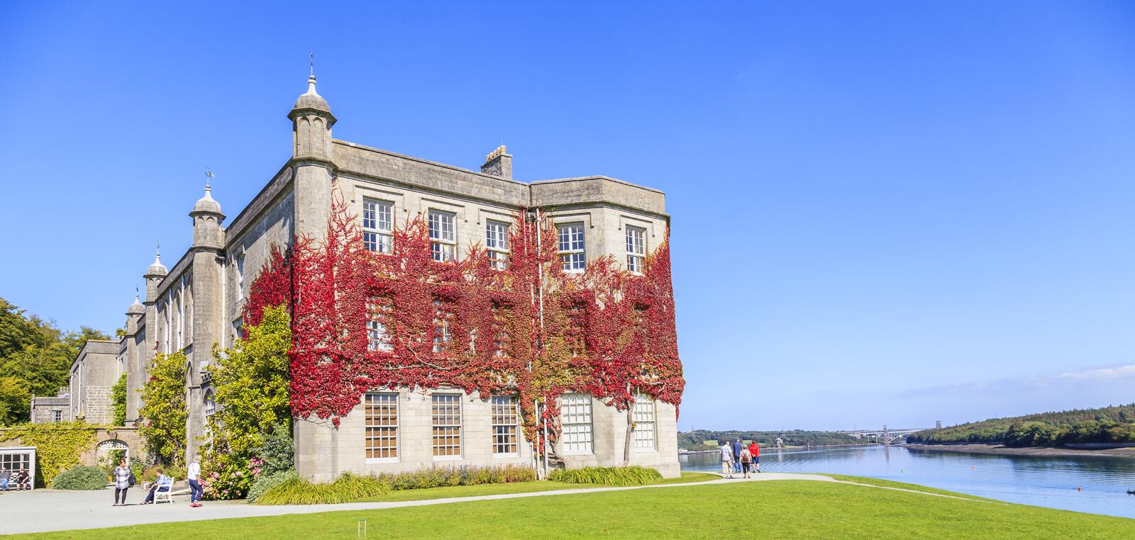 Plas Newydd Country House and Gardens. stock image