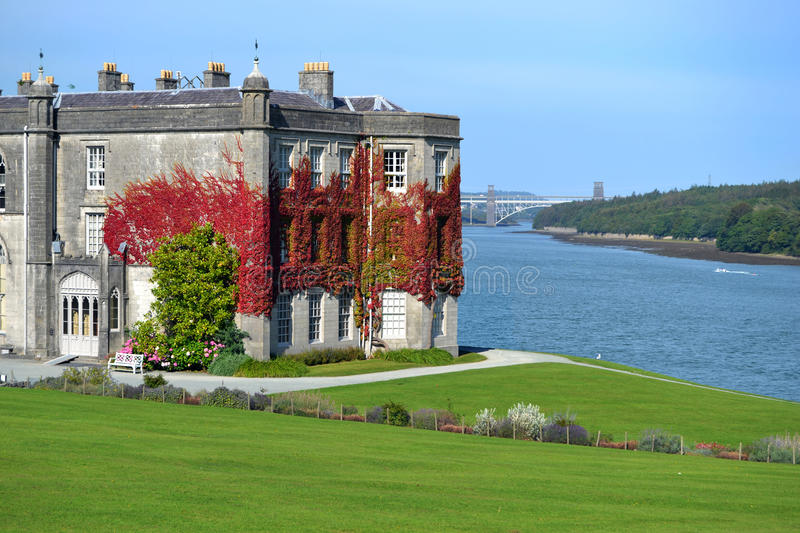Plas Newydd House and Gardens. Plas Newydd National Trust site on the Menai Straits stock photos
