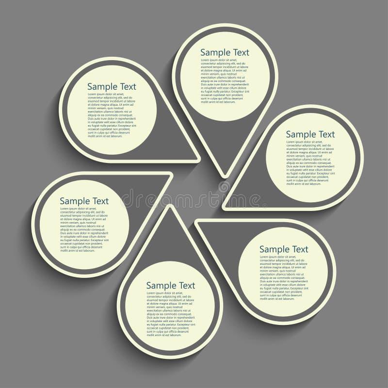 Plashka runda vektor illustrationer