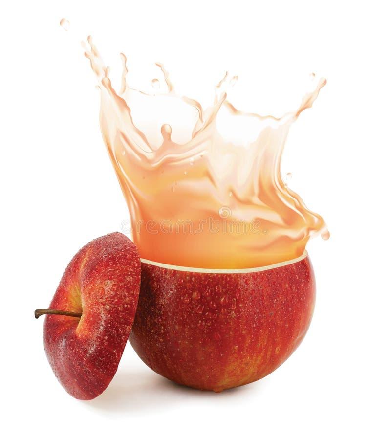 plaska för äppelmust arkivbild